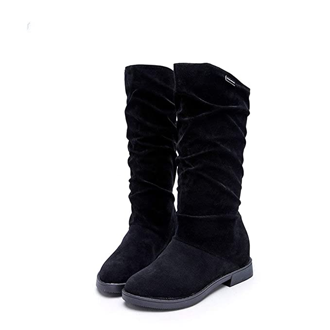 POLP Botas Mujer Invierno Botines y Botas Altas Mujer Botas de cuña Botines Altos Zapatos Mujer para Botas Mujer Altas de Mujer Tacon Zapatos con Cordones ...