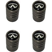 AEMULUS Black Chrome Auto Car Wheel Tire Air Valve Caps Stem Tire Decoration For Car Auto Infiniti