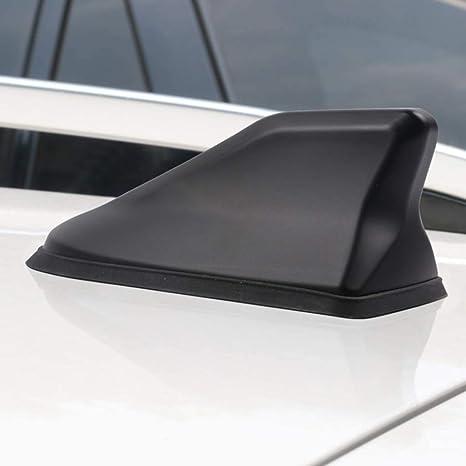 Psler Universal Coche Antena Impermeable de Señal de Radio de Aleta Tiburón Cubierta (Negro Oscuro)