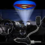Spoya 3D Superman CREE LED USB Car dome ceiling cigarette lighter logo projector decoration light lamp