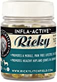 Ricky Lithchfield INFLA-ACTIVE Capsules - A Natural Herbal Remedy with Antioxidants and Vitamins for Improved Wellbeing offers pain relief of Arthritis, Hip & Joint for Dogs