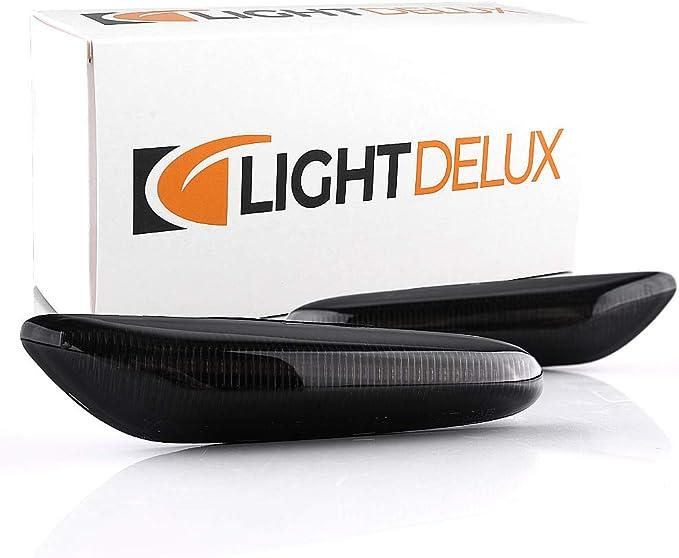 Lightdelux Ersatz Für Led Blinker Seitenblinker Blinkleuchte Dynamisch Laufblinker Mit E Prüfzeichen Black Vision Auto