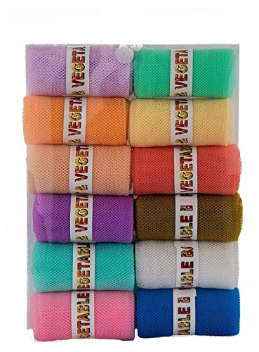 USPECH 12 Pcs of Fridge Zip Bags to Store Fruits, Vegetables, Fridge Organizer Color May Vary