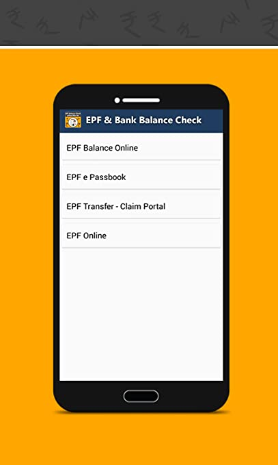 Amazon com: EPF Balance Bank Balance Check: Appstore for Android