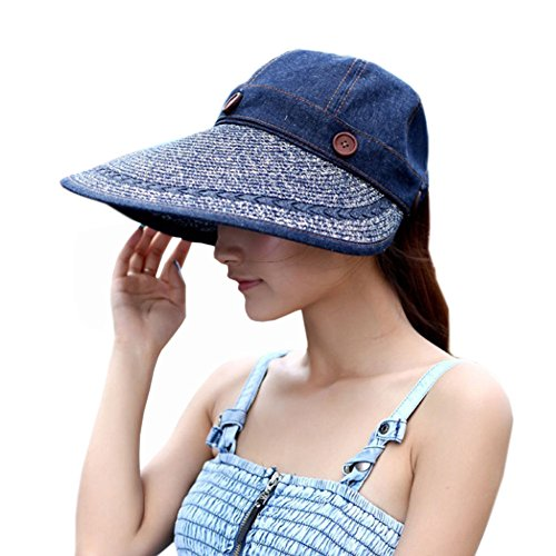 YANGG Sunday Summer Solid Hat Riding Big Wide Brim Adventure Hat-cowboy