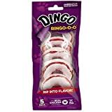 Dingo Ringo-O-O Rawhide Treat For All Dogs, 5-Count