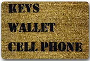 "Custom It Keys Wallet Cell Phone House Welcome Door Mat Rug Indoor/Outdoor Mats Welcome Doormat Decor Rug 23.6""(L) x 15.7""(W)"