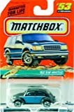 1998 - Mattel - Matchbox - #53 of 100 Vehicles - '62 VW Beetle - Black & Blue - Beach Edition - Series 11 - New - Out of Production - Limited Edition - Collectible