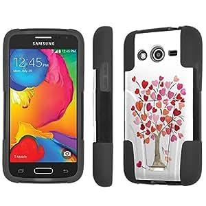 NakedShield Samsung Galaxy Avant G386 Tree of Love T Armor Tough Shock Proof KickStand Phone Case
