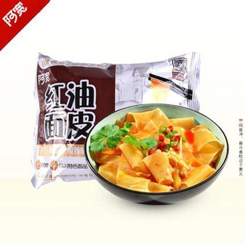 四川特产白家阿宽红油面皮凉皮105g x 5bag Sichuan specialty white A wide red oil Mianpi Liangpi from Yichang Yaxian Food