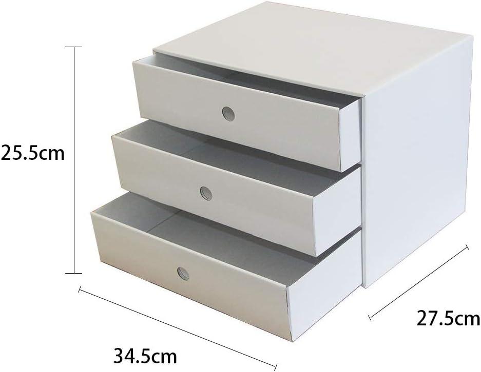 Color : White LQ 5 Layers File Cabinet Office Desktop Storage Box A4 Drawer File Filing Cabinets Folder