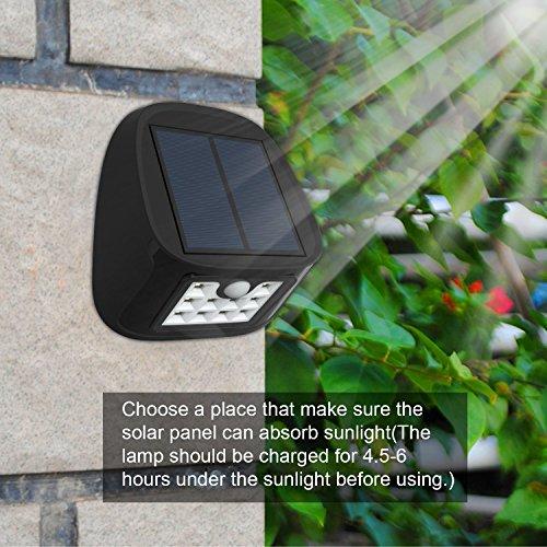 Driveway Lights B Q: Aptoyu Solar Motion Sensor Lights 10 LED Outdoor