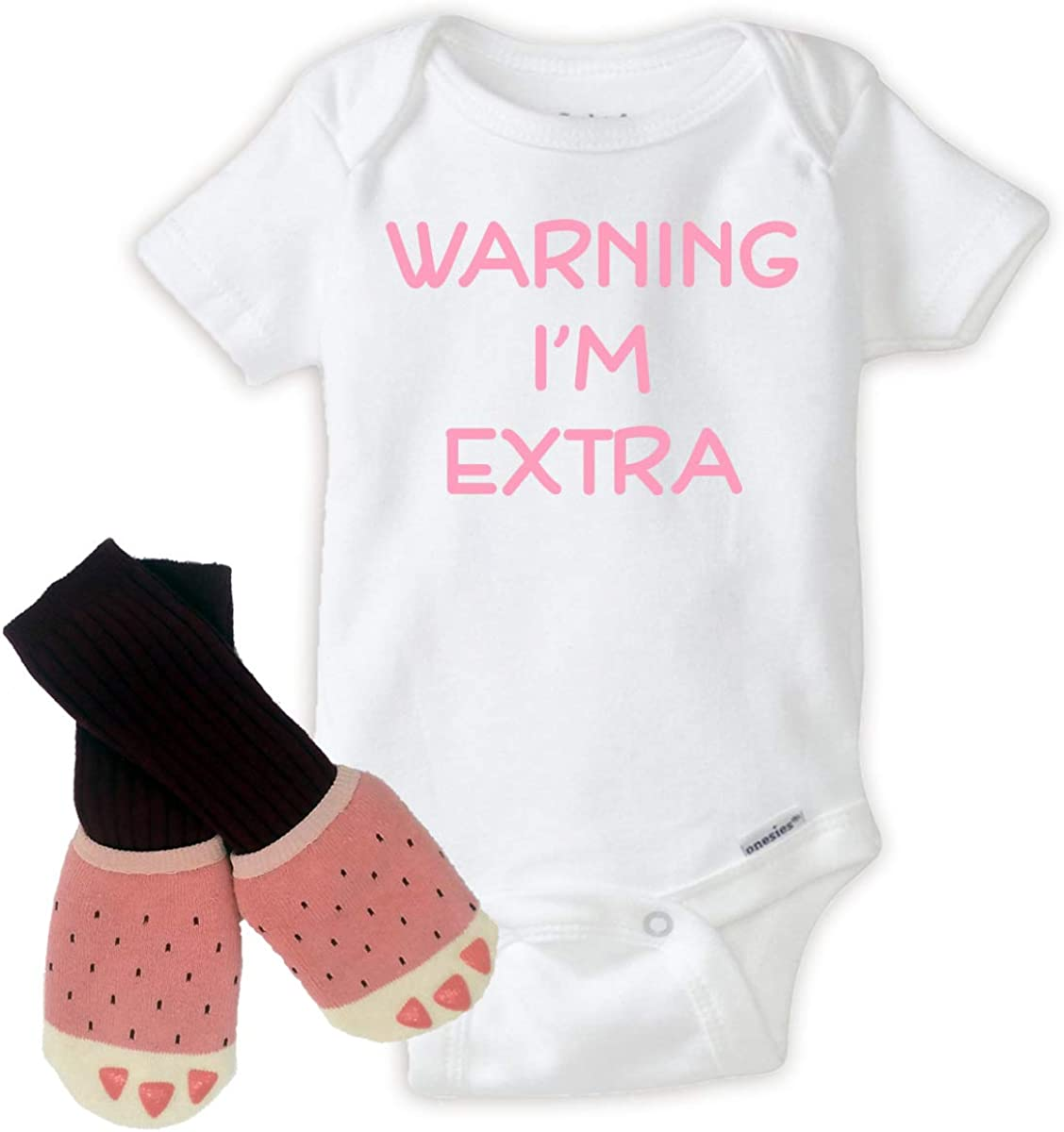 Amazon.com: Funny Warning Im Extra with Socks and Soft Shoes