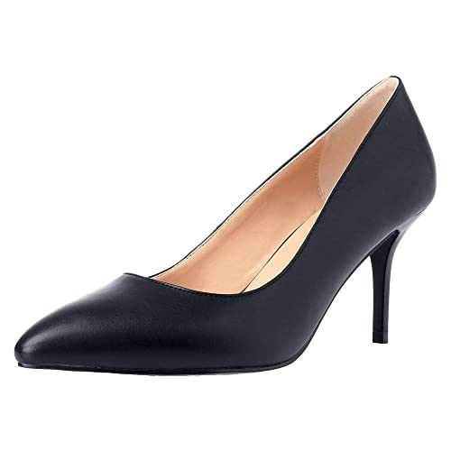 562c7008df3 MAYPIE Low Heels Pumps Womens Dress Shoes Classic Closed Pointed Toe 3  Inches
