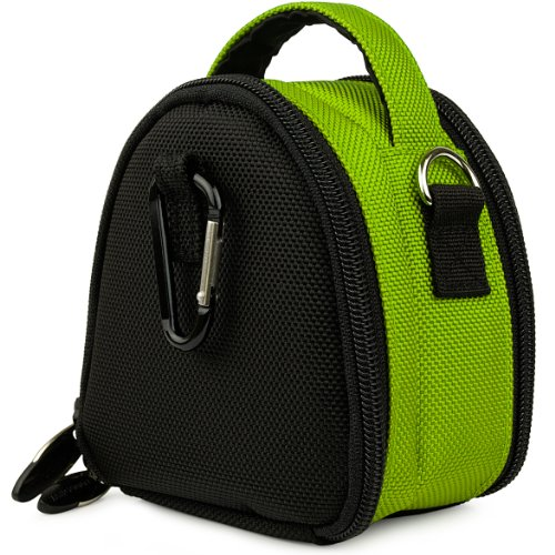 Lime Green VG Laurel Edition Stylish Nylon Camera Carrying Case Pouch for Ricoh Digital Camera Model CX6 / PX / CX5 / CX4 / CX3 / CX2 / CX1