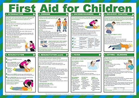 Cartel de seguridad para primeros auxilios para los niños ...