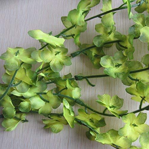 TM 80 cm Trailing Flower Garland Hanging Vine文字列Plant (オレンジ) One Size グリーン HYGTFRR45144188 B07G49MFYW グリーン One Size