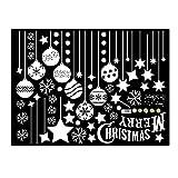 Techinal Christmas Snowflake Ball Glass Window Stickers Art Mural Room Decor Wall Sticker
