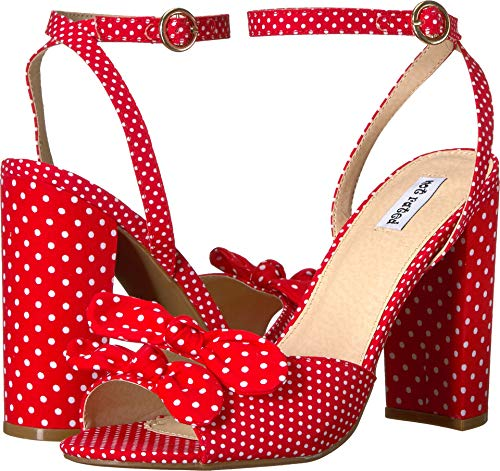 Not Rated Women's Pinup Pump, red, 8.5 M -