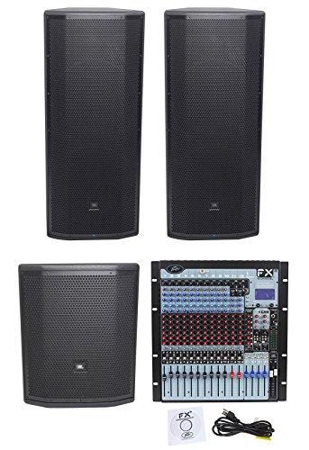 """(2) JBL Pro PRX825W Dual 15 Active Speakers+15"""" Sub+Peavey Mixer w/Dual DSP FX from JBL"""