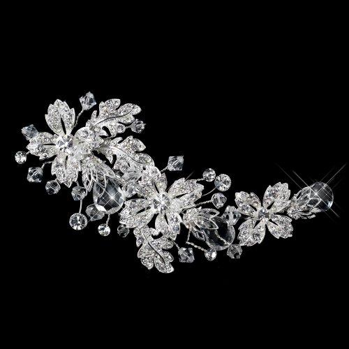 Deva Swarovski Crystal Bead & Rhinestone Flower Wedding, ...