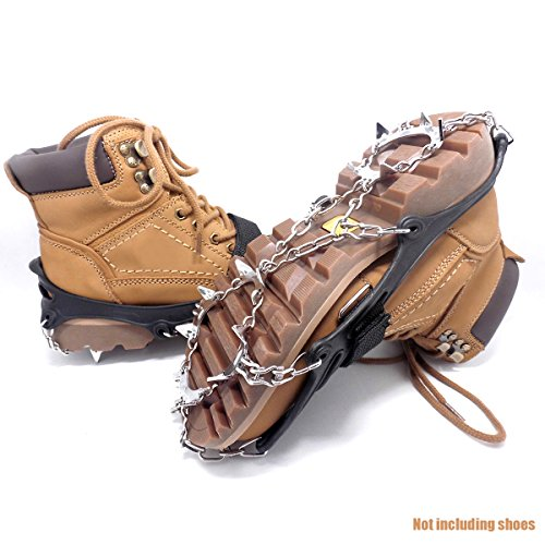Demon Eight Crampons,Stainless Steel Mountaineering And Ice Equipment Snow Grips Antiskid Shoes Cover Crampons For Climbing Hiking Traveling