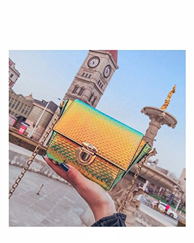 Shoulder Purse for Marchome Pu Green Iridescent Crossbody Small Women Holographic Leather Bag qZgq0