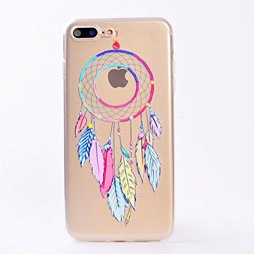 iPhone 7 Plus Hülle , Leiai Windspiele TPU Transparent Weich Tasche Schutzhülle Silikon Handyhülle Stoßdämpfende Clear Schale Fall Case Shell für Apple iPhone 7 Plus