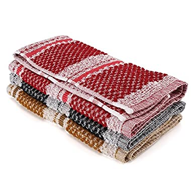 Joeti Classic 6 Pack Absorbent Dish Towels 100% Cotton High Quality Dish Cloths