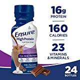 Cheap Ensure High Protein Nutrition Shake with 16 grams of high-quality protein, Meal Replacement Shakes, Low Fat, Milk Chocolate, 8 fl oz, (Pack of 24)