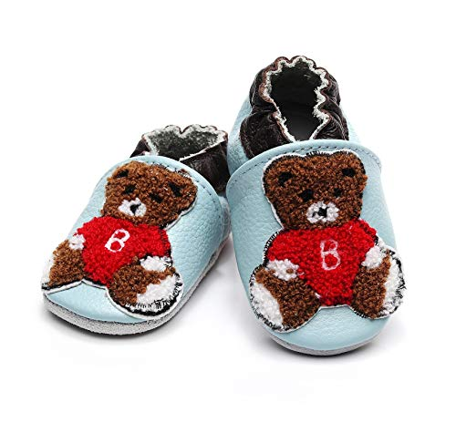f06a22440468 Bebila Cartoon Baby Moccasins with Soft Sole - Baby Girls Boys Shoes Leather  Slippers for Infant