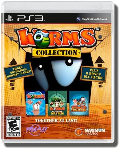 Maximum Games Worms Collection, PS3 Básico PlayStation 3 Inglés, Español vídeo - Juego (PS3, PlayStation 3, Arcada, Modo multijugador, E10 + (Everyone 10 +)): Amazon.es: Videojuegos