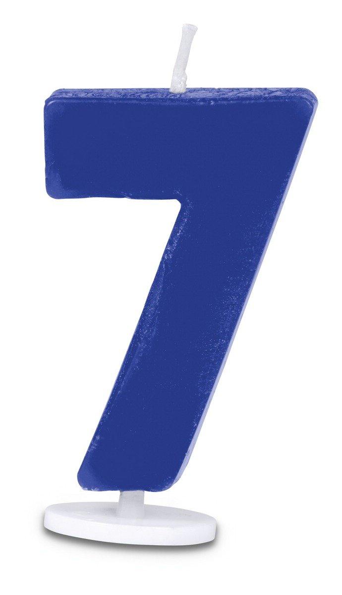 4,5/cm Staedter 7/N/úmero Vela con Soporte Azul 30 x 30 x 4.5 cm