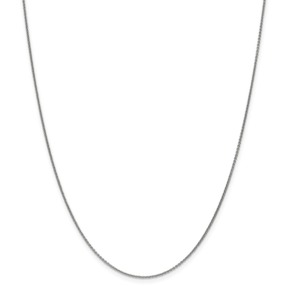 Mia Diamonds 10k White Gold 1mm Polished Cable Chain Necklace
