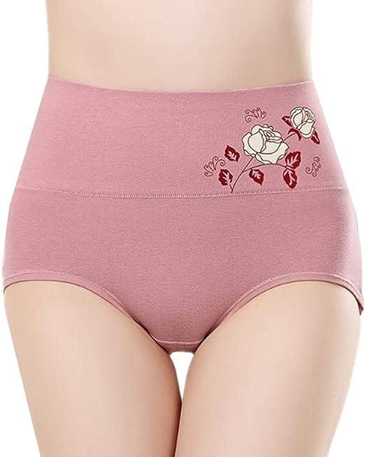 JZTRADING Bragas Algodon Altas Bragas Mujer Bragas para Mujeres Braguita Hipster Shorts Mujer Ropa Interior para Mujeres Stretch Cobertura Pantalones Pink,XL: Amazon.es: Hogar