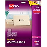 "Avery Clear Easy Peel Address Labels for Laser Printers 1"" x 2-5/8"", Pack of 300 (15660)"