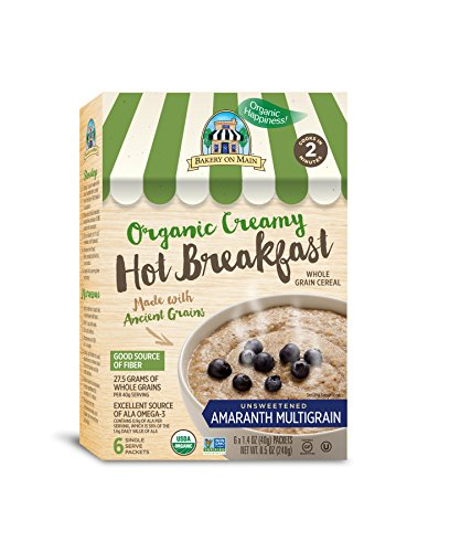 Amaranth Cereal - Bakery On Main Gluten-Free, Organic Creamy Hot Breakfast, Amaranth Multigrain, 6 Count Box (Pack of 3)