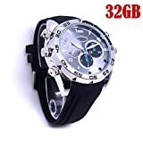 Spy Camera CMR Full HD Hidden Cam Watch 1920*1080P IR Night Vision WristWatch Mini Camcorders DVR Voice Recording Watches 32GB