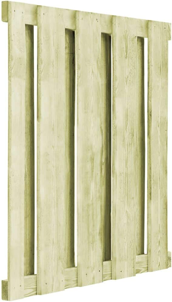 vidaXL Bois de Pin Impr/égn/é Portillon Cl/ôture de Jardin 100x100cm Vert Portail