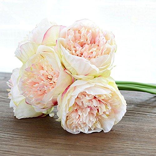 Artificial Fake Silk Daisy Flower Bouquet 1Bunch Green - 6