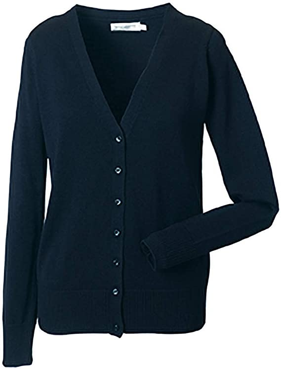 Russell Collection LadiesWomens V neck Knitted Cardigan (3XL) (French Navy)