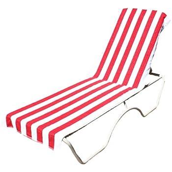 Amazon Com Terry Cotton Stripe Beach Lounge Chair Towel