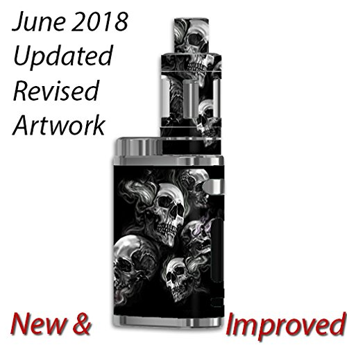 Skin Decal Vinyl Wrap For ELeaf IStick Pico 75w TC Vape Mod / Glowing Skulls In Smoke