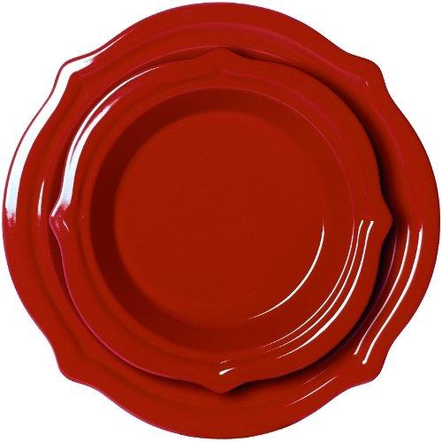 - Chantal 2 Piece Talavera Pie Set, Apple Red