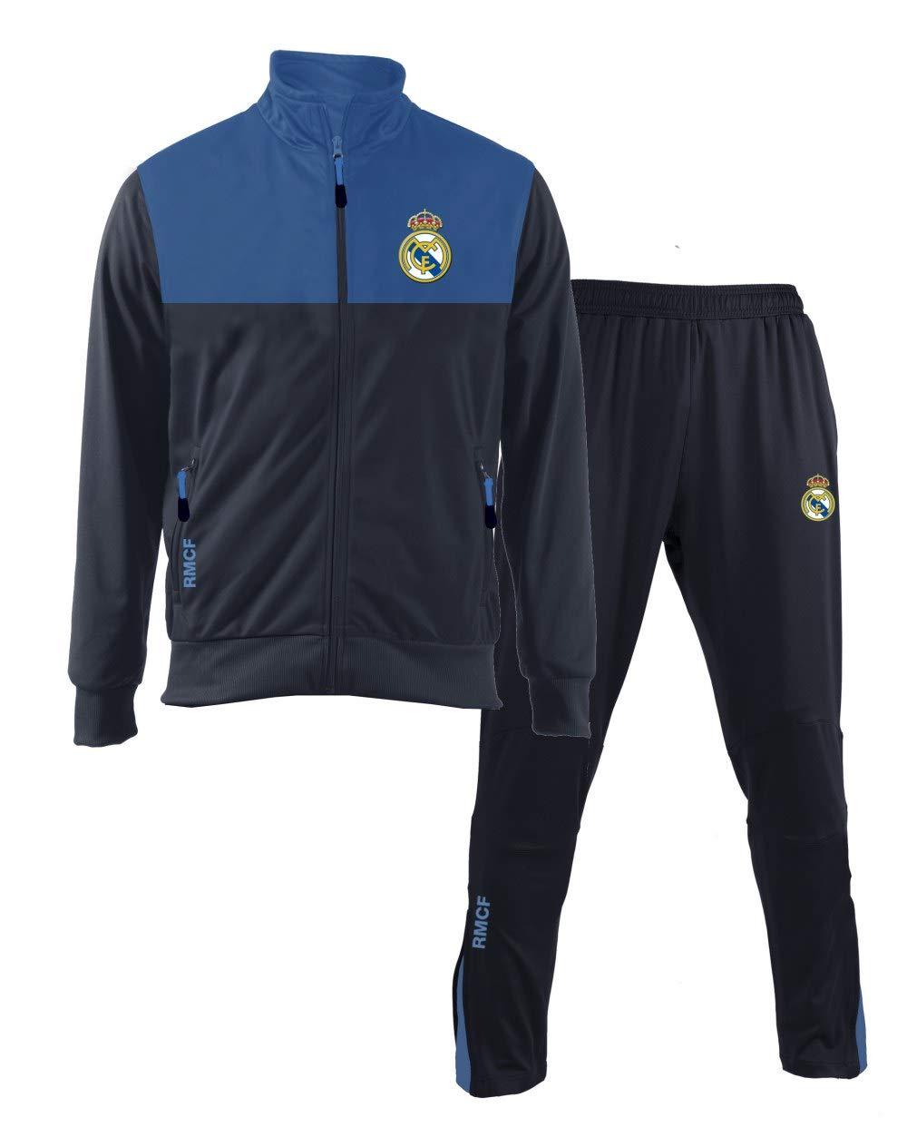 Tuta Ufficiale Real Madrid Blu Navy 2018 2019 in Blister Giacca e Pantaloni Originale Adulto e Bambino