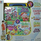 : Milton Bradley Rolling Backpack with 4 Games Candy Land and more