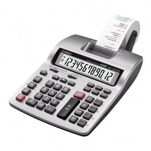 CSOHR150TMPLUS - Printing Calculator, 12-Digit, 6-1/3x10-5/8x2-1/2,LGY