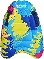 Inflatable Boogie Boards for Beach Portable Bodyboard with Handles Lightweight Soft Body Boards for Kids Surfb