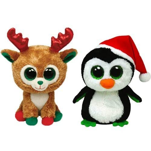 7ed3c3527eb 50%OFF Ty Beanie Boos Igloo the Penguin and Alpine the Reindeer Holiday Set  of