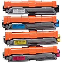 Toners & More ® Compatible Laser Toner Cartridge Set for TN-221 & TN-225 TN-221BK Black, TN-221C Cyan, TN-221M Magenta, TN-221Y Yellow, Works with Brother HL-3140CW HL-3170CDW MFC-9130CW MFC-9330CDW MFC-9340CDW
